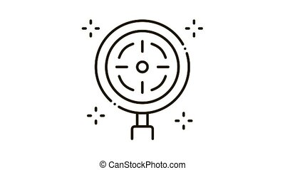 target detection Icon Animation. black target detection animated icon on white background