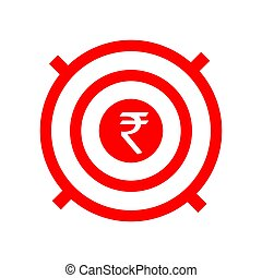 Target earnings. Business icon. Vector illustration isolated on white background