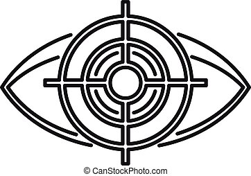 Target eye examination icon, outline style - Target eye ...