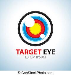 Target eye symbol icon