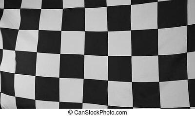 Target flag in slow motion