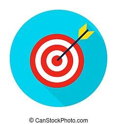 Target Flat Circle Icon
