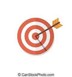 Target flat design icon illustration