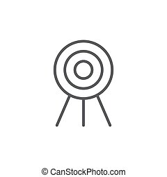 target flat vector icon concept, isolated on white background