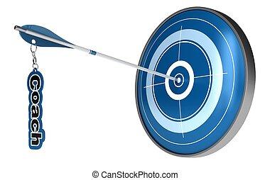 target., flecha, entrenador, palabra, centro, imagen, ...