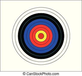 Target for darts game vector illustration
