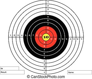 target for the shooting range