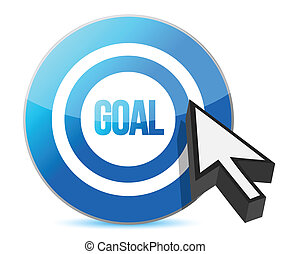 target goal with cursor illustration