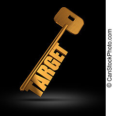 Target gold key