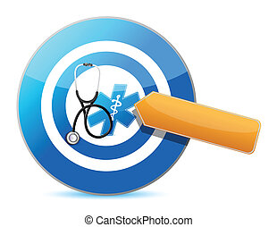 target good health concept with a Stethoscope