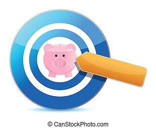 target great savings. Illustration design