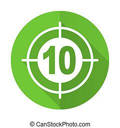 target green flat icon