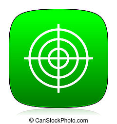 target green icon for web and mobile app