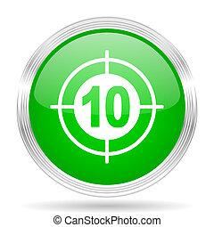 target green modern design web glossy icon