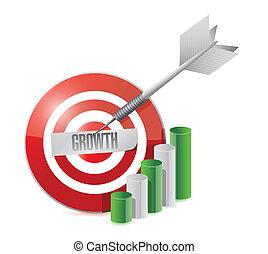 target growth. illustration design
