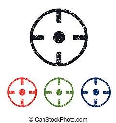 Target grunge icon set