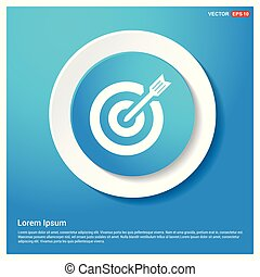 Target Icon Abstract Blue Web Sticker Button