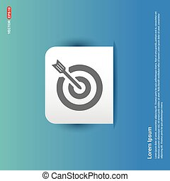 Target Icon - Blue Sticker button