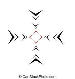 target icon, crosshair sign sniper stylish vector sniper...
