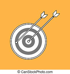 Target icon design, vector illustration
