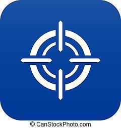 Target icon digital blue