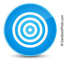 Target icon elegant cyan blue round button