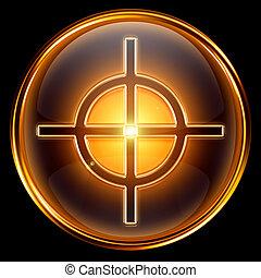 target icon golden.