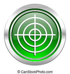 target icon, green button