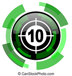 target icon, green modern design isolated button, web and mobile app design illustration