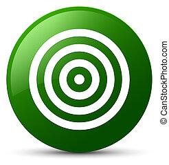 Target icon green round button