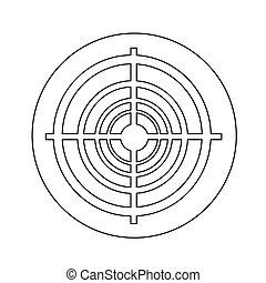 target icon illustration design
