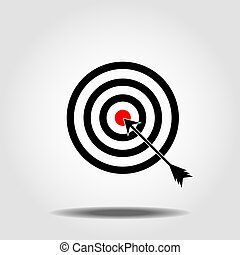 Target Icon in trendy flat style isolated on white background. Aim symbol for your web site design, logo, app, UI. Vector illustration, EPS10