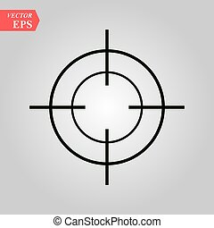 Target icon in trendy flat style isolated on white background. Symbol for your web site design, logo, app, UI. Vector illustration, EPS