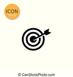 Target icon isolated flat style.