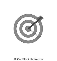 Target icon isolated on white background