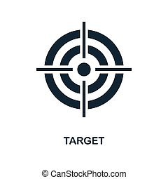 Target icon. Monochrome style design from business icon collection. UI. Pixel perfect simple pictogram target icon. Web design, apps, software, print usage.