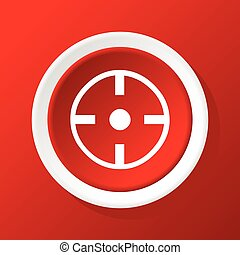 Target icon on red