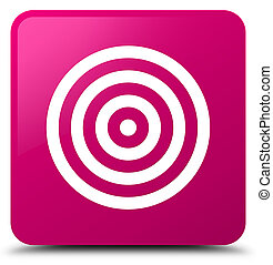 Target icon pink square button