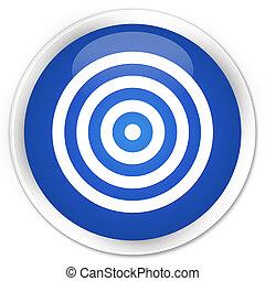 Target icon premium blue round button