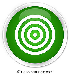 Target icon premium green round button