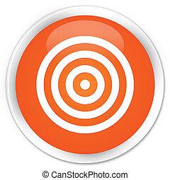 Target icon premium orange round button