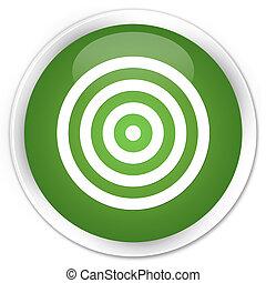 Target icon premium soft green round button