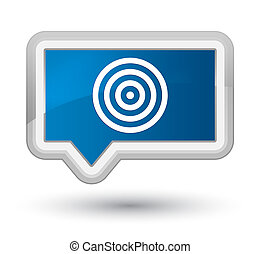 Target icon prime blue banner button