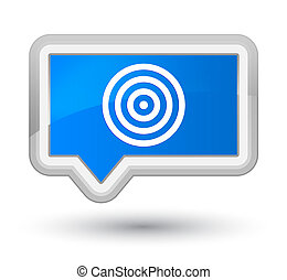 Target icon prime cyan blue banner button