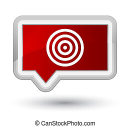 Target icon prime red banner button