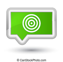 Target icon prime soft green banner button