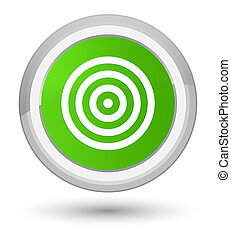 Target icon prime soft green round button