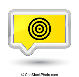 Target icon prime yellow banner button