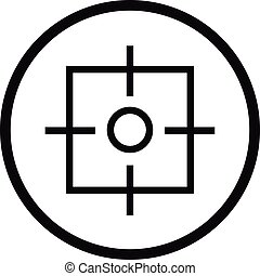 Target icon, simple style.