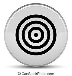 Target icon special white round button
